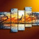 Large Wall Decor African Wildlife Oil Painting on Canvas (+Framed) AR-136