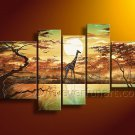 Huge Canvas Art Giraffe Oil Painting for Home Decor (+Framed) AR-137