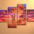 100% Hand Painted Canvas Art African Oil Painting (+ Framed) AR-141