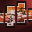 Hand Painted Wall Decor African Art Oil Painting on Canvas (+Framed) AR-147