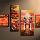 Huge Wall Decor Canvas Art African Oil Painting (+Framed) AR-148