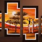 Home Decoration Wall Art African Oil Painting (+Framed) AR-150