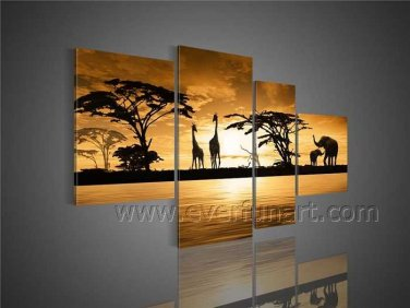 Modern Large Size Wall Decor African Art Oil Painting (+Framed) AR-095