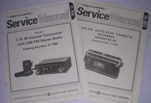 2 NEW Manual REALISTIC Radio Shack CB Transceiver Radio