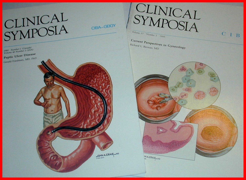 2 Clinical SYMPOSIA CIBA Ulcer & Gynecology F. NETTER, CRAIG