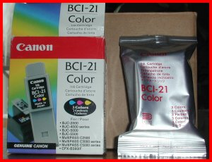 NEW Genuine CANON 3COLOR BCI-21 ink Cartridge BCJ/2000/4000