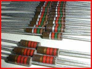 25 NEW 1.5K & 5 2.2K ½ W Carbon Composition Resistors 5/10%