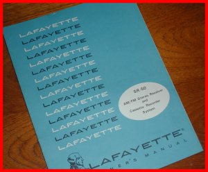 Lafayette SR-50 AM/FM Stereo RECEIVER Cassette Recorder Service Manual SCHEMATIC