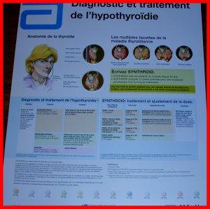 Sculptured Poster Diagnosis and Treatment HYPOTHYROIDISM & CIBA Symposia NETTER