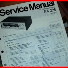 SERVICE MANUAL Technics FM/AM Stereo RECEIVER SA-225 NEW NOS 35W per Channel
