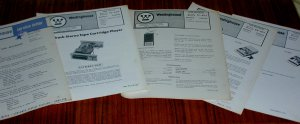 3 WESTINGHOUSE BSR Tape Recorder Repair Manuals Cassette TMC8016 CS102 8trk TI45
