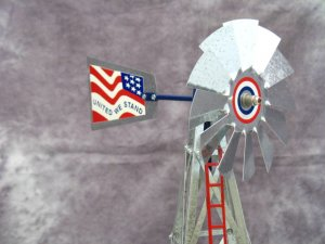 17 inch Mini Windmill Stars and Stripes tail