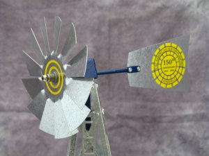 17 inch Mini Windmill 150 year Commemorative tail