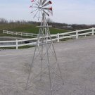 8 ft Made in USA Aluminum Garden Windmill - Red