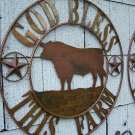 God Bless this Farm Rustic Angus Bull Sign Farming Dairy