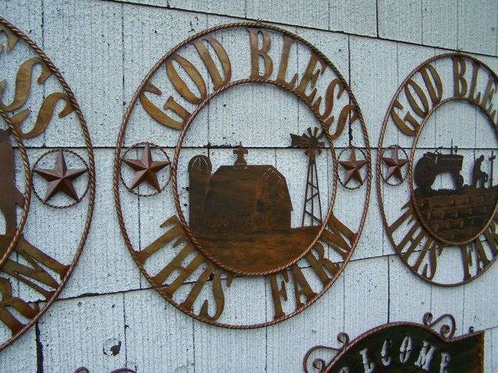 God Bless this Farm Scene Rustic Sign Farming Dairy