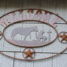 Cowboy Western Desert Welcome Scene Rustic Sign Rancher Ranch Ranching Decoration