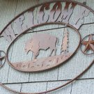 Buffalo Welcome Scene Rustic Sign Outdoor Cabin Hunting Outdoorsmen Lodge Decoration Ranch Farm