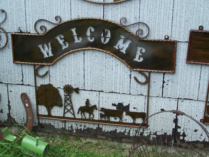 Farm Welcome Scene Rustic Sign Windmill Ranch Farmer Decoration