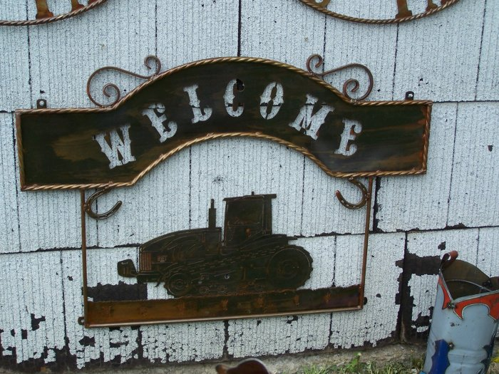 Farm Welcome Scene Rustic Sign Windmill Ranch Farmer Decoration Catterpiller
