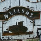 Farm Welcome Scene Rustic Sign Windmill Ranch Farmer Decoration Catterpiller