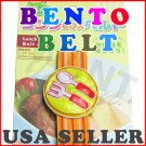 Spoon Fork Bento Japanese Lunch Box Belt - Elastic Strap From Japan NEW
