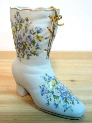 Floral Design Enesco Ceramic Boot - Very Nice !