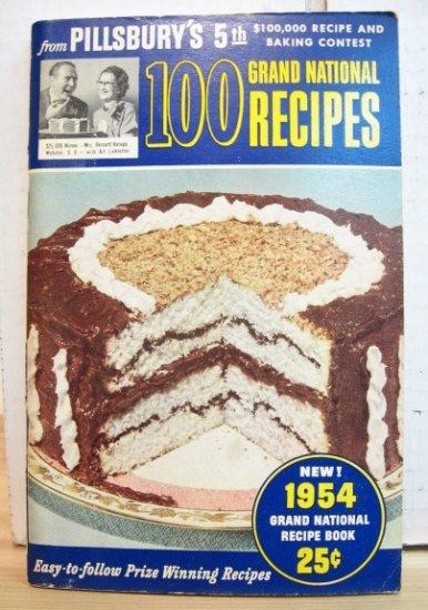 1954 - Pillsbury Grand National Recipe Book VGC