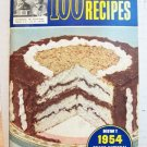 1954 - Pillsbury Grand National Recipe Book VGC
