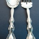 Fancy 2pc Serving Set International Siverplate NICE !