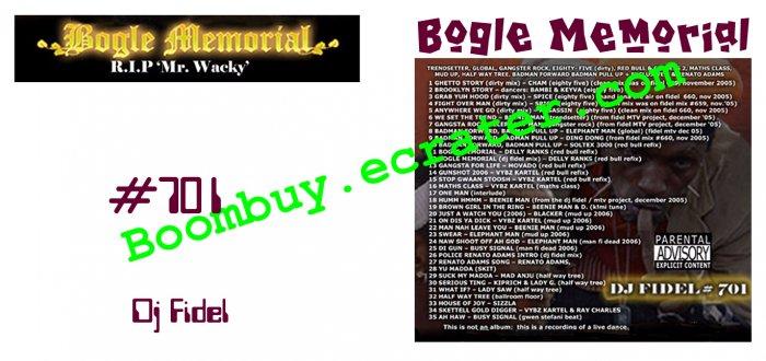 Dj Fidel:  Bogle Memorial #701
