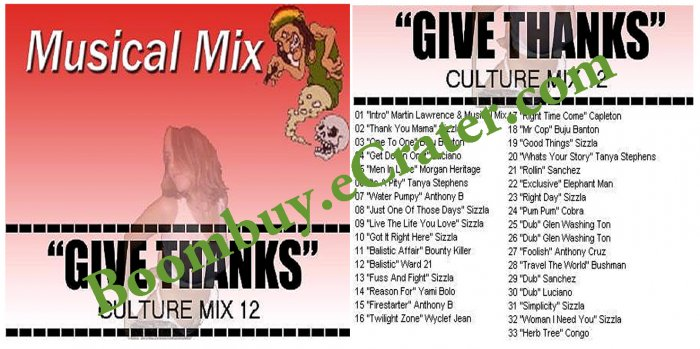 Musical Mix: Give Thanks Culture Vol. 12