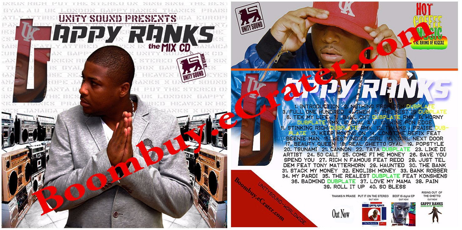 Unity Sound System: Gappy Ranks the Mix cd (***2011 Release )