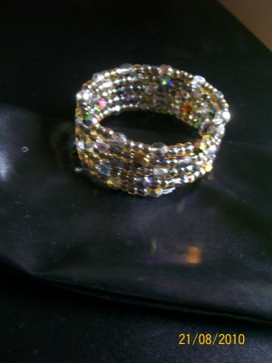 Wrap Bracelet in Purple & Brown