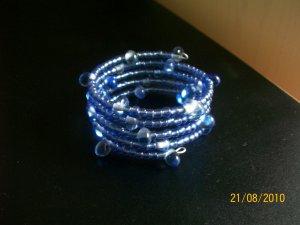 Wrap Bracelet in Blue