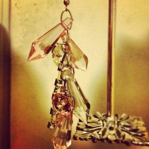 Pink & White Chandelier Earrings