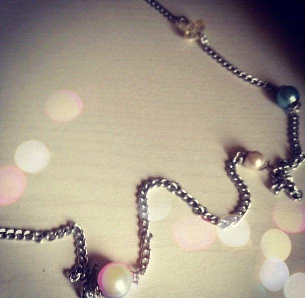 Baby Blue Chain Necklace