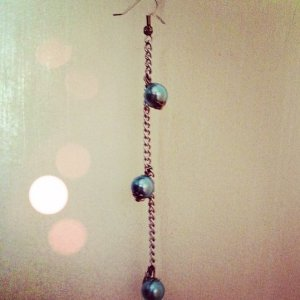 Baby Blue Chain Earring