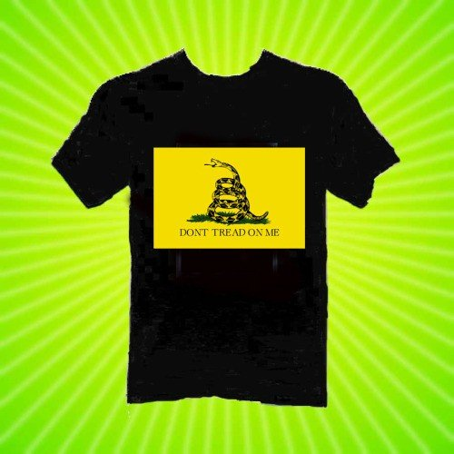 Gadsden Flag Tea Party Don't Tread on Me T-Shirt New 8 Sizes 2 Colors