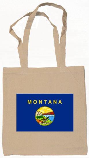 Montana State Flag Tote Bag