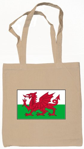 Wales Flag Souvenir Canvas Tote Bag Shopping School Sports Grocery Eco