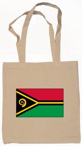 Vanuatu Vanuatuan Flag Souvenir Canvas Tote Bag Shopping School Sports Grocery Eco