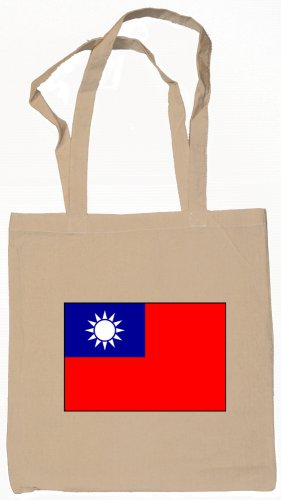 Taiwan Taiwanese  Flag Souvenir Canvas Tote Bag Shopping School Sports Grocery Eco