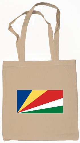 Seychelles Flag Souvenir Canvas Tote Bag Shopping School Sports Grocery Eco