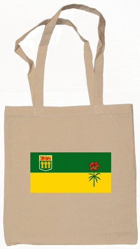 Saskatchewan  Flag Souvenir Canvas Tote Bag Shopping School Sports Grocery Eco