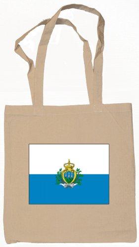 San Marino  Flag Souvenir Canvas Tote Bag Shopping School Sports Grocery Eco