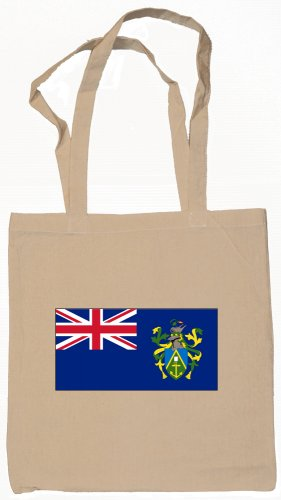 Pitcairn Islands Flag Souvenir Canvas Tote Bag Shopping School Sports Grocery Eco