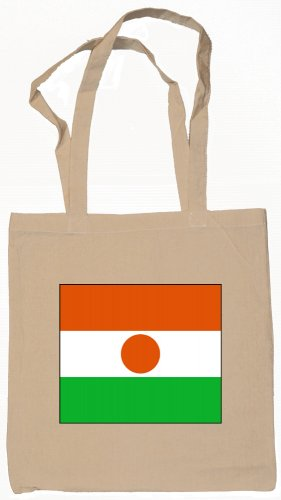 Niger Flag Souvenir Canvas Tote Bag Shopping School Sports Grocery Eco