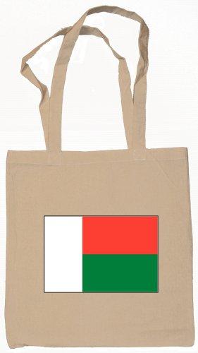 Madagascar Flag Souvenir Canvas Tote Bag Shopping School Sports Grocery Eco