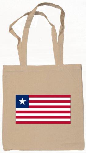 Liberia Liberian  Flag Souvenir Canvas Tote Bag Shopping School Sports Grocery Eco
